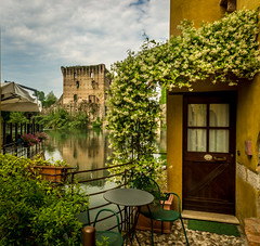 Borghetto (TrippinOn) Tags: italy castle water reflections river spring europe italia verona veneto valeggiosulmincio