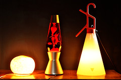 Lamps (Apionid) Tags: red orange warm lamps lavalamp mathmos moriarty day145366 nikond7000 366the2016edition 3662016 24may16