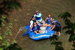 Rafters Stuck in Old Xhannel of Buffalo River channel - Downstream from Ponca, Arkansas (danjdavis) Tags: rafting raft arkansas buffalonationalriver buffaloriver raftrs
