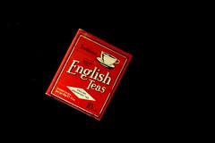English Tea (Jackal1) Tags: red english canon 50mm words tea box teabags