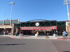 Scottsdale Stadium -- Scottsdale, AZ, March 08, 2016 (baseballoogie) Tags: arizona baseball stadium az giants scottsdale ballpark springtraining sanfranciscogiants cactusleague baseballpark scottsdalestadium 030816 canonpowershotsx30is baseball16