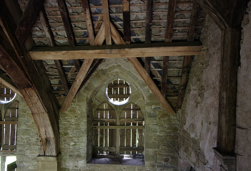Roof above the gallery
