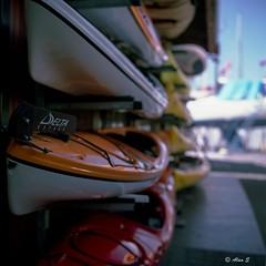 Kayaks - Film Rolleiflex (Photo Alan) Tags: street canada 6x6 film vancouver zeiss outdoor streetphotography carl filmcamera granvilleisland kayaks rolleiflex28f filmscan film120 carlzeissplanar80mmf28 filmrolleiflex