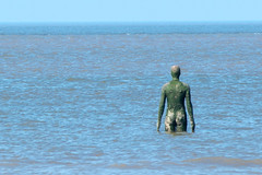 Another Place - incoming tide (Lluniau Clog) Tags: crosbybeach crosby waterloo beach sculpture antonygormley anotherplace