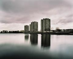 * (jubalharshaw) Tags: lake london 120 film lens long exposure pentax kodak greenwich 55mm filter 400 nd medium format 6x7 smc portra f4 67 thamesmead southmere