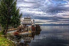 Ferry: Before Day's First Trip (gr8fulted54) Tags: water boat nikon hdr on1 photomatix noiseless tonemapped d7100