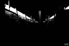 """Once"" (KanaLeo) Tags: life shadow people film monochrome night rollei dark subway blackwhite nikon quiet time while feeling filmcamera dailylife everyday nikkor fm2 holdthisposition kanafilmphotography"