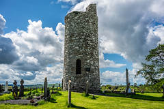 Old Kilcullen Round Tower (Ails N hgeartaigh) Tags: ireland summer sky tower clouds zeiss outside europe outdoor sony christian holy monastery round christianity za a7 monastic kildare 2016