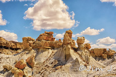 Wind and Water (Jim Johnston (OKC)) Tags: newmexico outdoors desert hike desolate rockformations 3wisemen bistibadlands alienworld ahshislepah
