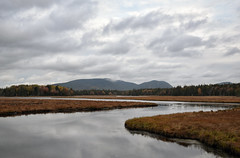 Marshall Brook No. 3 (Geoffrey Coelho Photography) Tags: sky reflection clouds river landscape coast nationalpark still soft quiet maine scenic newengland peaceful reflected coastal rivers brook tranquil acadia acadianationalpark downeast marshallbrook