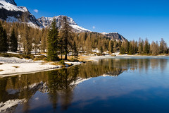 Reflections (SMSharjeel) Tags: morning winter italy lake reflection nature water reflections relax landscape sony calming