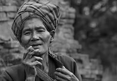 Cheroot Smoker (Tati@) Tags: people woman cigar smoking inlelake pao cheroot handrolled