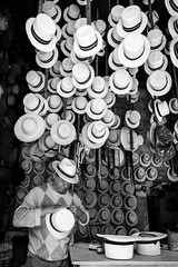 El Vado (LuisGarciaA) Tags: old city people blackandwhite man photography ecuador workers hats documentary cuenca elvado lgarciaph