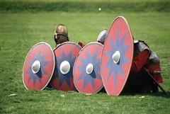 late era Romans at Rufford thru the ages 2016 (the.photo.joe) Tags: romans 35mm film reanactment canon fuji shield shields training eos rufford