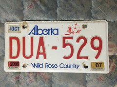 ALBERTA 2006-07 ---LICENSE PLATE #DUA-529 (woody1778a) Tags: woody licenseplate mytraders fortrade forsale tradelist numberplate woody1778 alpca collector