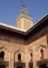 Fes El Bali Morocco-Medersa Bou Inania.9-2016 (Julia Kostecka) Tags: morocco fes madrasa medersa feselbali medersaelattarine