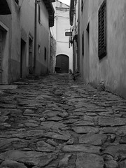 Old Buzet, Croatia (Daniel C. Brunner) Tags: blackandwhite bnw bw blackwhite buzet croatia street mft lumix lumixg gx