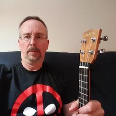 new American gothic (Rockin' KE) Tags: art me comics ukulele kala americangothic selfie deadpool