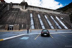 2016 - Road Trip - Revelstoke Dam BC - 4 of 4 (Ted's photos - Returns Late September) Tags: car clouds nikon parkinglot bc britishcolumbia dam verano vehicle cropped vignetting curb yellowlines 2016 penstock bchydro revelstokedam tedmcgrath parkingstalls tedsphotos nikonfx buickverano nikond750