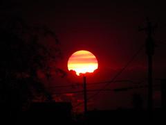 A sweltering Phoenix sunset this evening. (Spork Outdoors) Tags: city sunset red arizona sky usa sun southwest phoenix skyline clouds colorful desert sundown vibrant