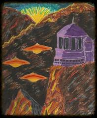 myden (regina11163) Tags: ufosonearth ufos alienbase dawn mountains fantasy unreal artreproduction