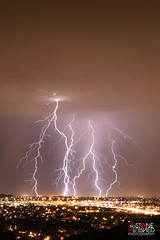 (No Stone Unturned Photography) Tags: city arizona storm night long exposure monsoon lightning strikes