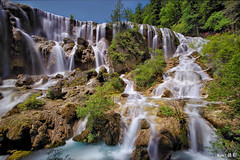 Nuorilang Waterfall  (Ken Goh thanks for 2 Million views) Tags: lighting longexposure sky cloud reflection nature water colors landscape photography waterfall pentax smooth sigma wideangle 1020 k1 nuorilang