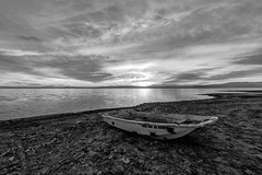 Boat for hire (John Getchel Photography) Tags: california sunset clouds boat us unitedstates saltonsea niland bombaybeach