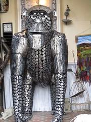 Surprised, North Wales (vw4y) Tags: artwork gorilla metalwork unexpected surprising northwales
