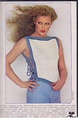 Courreges 1978 (2) (moogirl2) Tags: vintage retro vogue 70s 1978 supermodels fashions 70sstyle vintageads albertwatson courrges pattihansen vintagevogue vintagecourrges