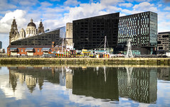 BRY_20160211_IMG_8039_ (stephenbryan825) Tags: reflection liverpool buildings dome threegraces hdr albertdock royalliverbuilding portofliverpoolbuilding selects mannisland