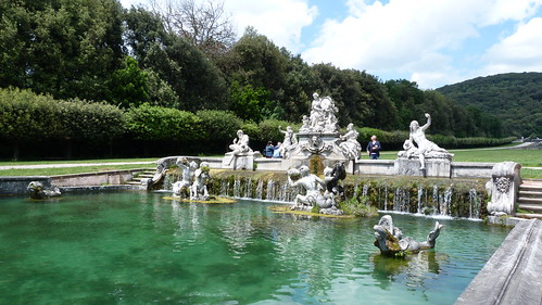 Reggia Caserta - Bourbon royal palace, water cascade, upper reaches, waterfall