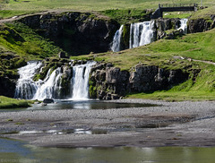 Kirkjufellsfoss during the day (katrin glaesmann) Tags: waterfall iceland snfellsnes kirkjufellsfoss unterwegsmiticelandtours photographyholidaywithicelandtours