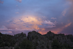 Passing Storm (Jeff Mitton) Tags: sunset storm mountains landscape colorado scenic canyon thunderhead wondersofnature earthnaturelife brownscanyonnationalmonument