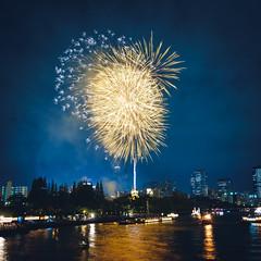 写真日記 #20160725 (YUSHENG HSU) Tags: 大阪市 大阪府 日本 jp 夜景 花火 祭り 天神祭