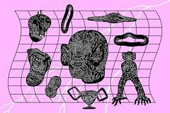 Obliterate (Berje) Tags: illustration ilustrao art arte artwork drawing skatebord alien design graphic poster print weird monster blackandwhite stoner