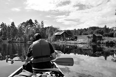 Norway and Sweden_141 (jjay69) Tags: man men male males people 1person 1man oneman outdoor outdoors active activity activeman action normay sweden scandanavia europe holiday vacation manonholiday activeholiday blackandwhite bw blackwhite monochrome artistic