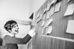 brainstorming /explored 13.5.2015/ (I.Dostál) Tags: portrait woman smile fun happy person idea dynamic board ui explore vision brainstorming stick tucan teambuilding