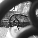 See trough bench black and white thumbnail
