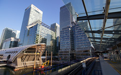 Canary Wharf Station - Canary Wharf, London (SE9 London) Tags: uk england india west london tower station architecture modern canon spring britain united great towers kingdom quay wharf londres gb april canary e14 crossrail
