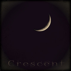 Crescent Moon (Rosemary Danielis) Tags: sky moon smile night glow crescent