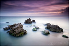 sea of mist (Maciek Gornisiewicz) Tags: longexposure sunset sea seascape beach clouds canon newcastle landscape photography evening coast rocks dusk tripod central australia redhead filter shore nsw newsouthwales tasman maciek 2015 darkelf 24105mm seaofmist bigstopper gornisiewicz 5diii