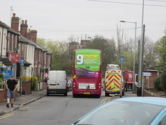 6103, Quinton, West Midlands, 13/04/15 (aecregent) Tags: rear 9 westmidlands quinton 6103 130415 nationalexpresswestmidlands enviro400mmc sn15lfl