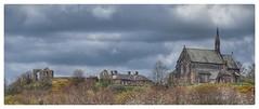 St.Mary's church and Halton Castle. (Keo6) Tags: haltoncastleruncornstmaryschurch