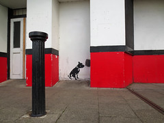 margate (maximorgana) Tags: street door red black art stencil margate rb