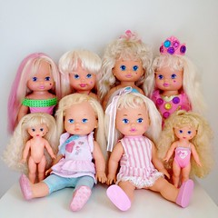 My Li'l Miss Doll Collection (The Barbie Room) Tags: make up hair doll dress little stripes magic makeup collection nails 80s lil lipstick mermaid jewels miss 1980s mattel 1990s 90s candi