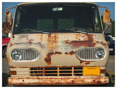 Econoline (daveelmore) Tags: ford truck rust antique rusty headlights bumper vehicle grille van econoline workvan mzuiko1442mm