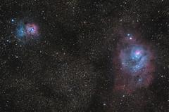 M20-M8 (Paul Litchen) Tags: stars space nebula m8 m20