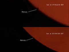 First Contact -- Mercury & Sun (Odonata457) Tags: park county sun mercury howard first maryland ridge transit contact alpha 2016