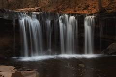 Oneida Falls (SunnyDazzled) Tags: longexposure nature water pool creek flow outdoors evening waterfall spring log rocks stream hiking pennsylvania stones falls glen fallen oneida ricketts